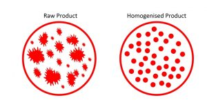 diagram of homogenised product